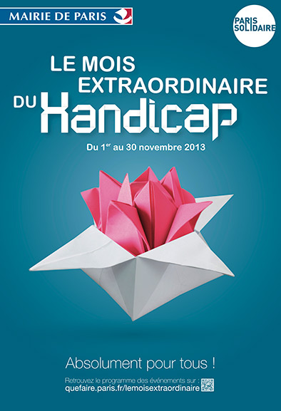 Affiche Mois extraordinaire du Handicap 2013 à Paris