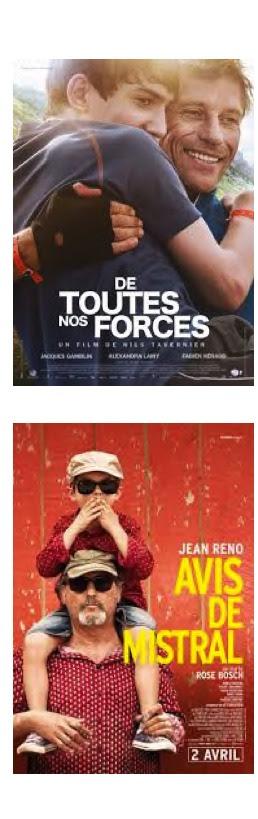Affiches des films De toutes nos forces et Avis de Mistral