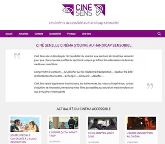 Visuel du site de CinéSens
