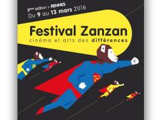 Affiche 5eme festival Zanzan format carré