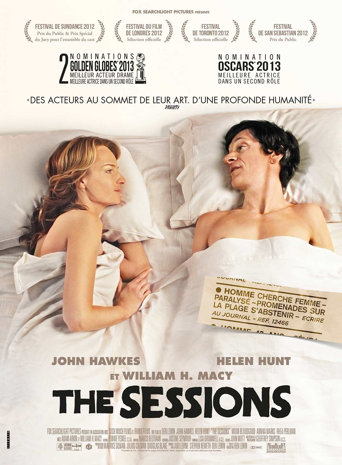Affiche du film The Sessions.
