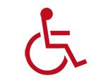 Pictogramme personnes à mobilité réduite