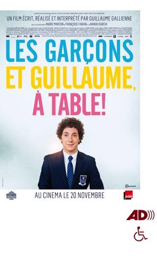 Affiche du film Les garçons et Guillaume, à table