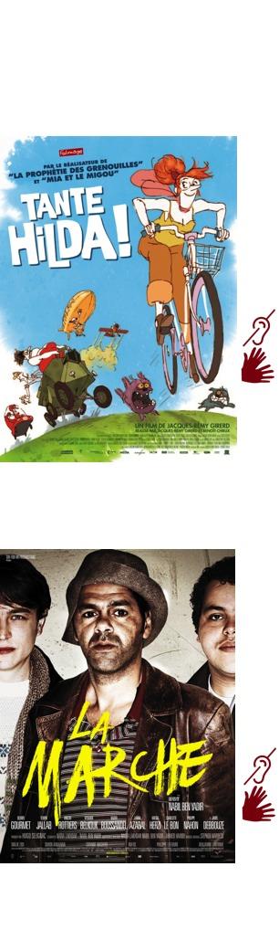 Affiches des films Tante Hilda et La Marche