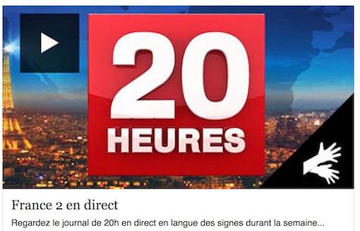 Le JT de 20h sur France 2 en LSF