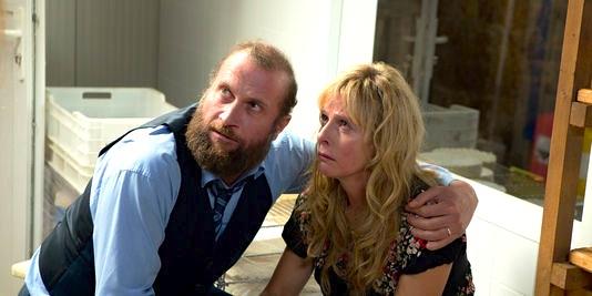"""Karin Viard et François Damiens acteur du film """"La famille Bélier"""""""