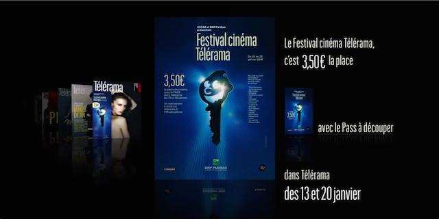 Affiche du festival Télérama 2016 extraite de la bande annonce