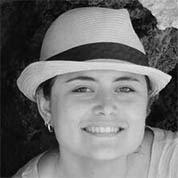 Portrait en noir et blanc de Soline
