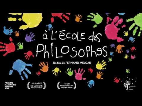 """2ème affiche du film documentaire """"A l'école des philosophes"""" de Fernand Melgar"""
