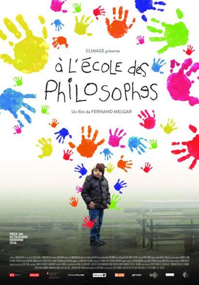 """Affiche du film documentaire """"A l'école des philosophes"""" de Fernand Melgar"""