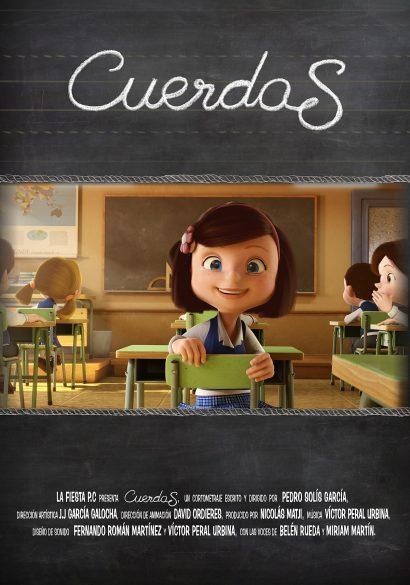 affiche du court métrage d'animation Cuerdas