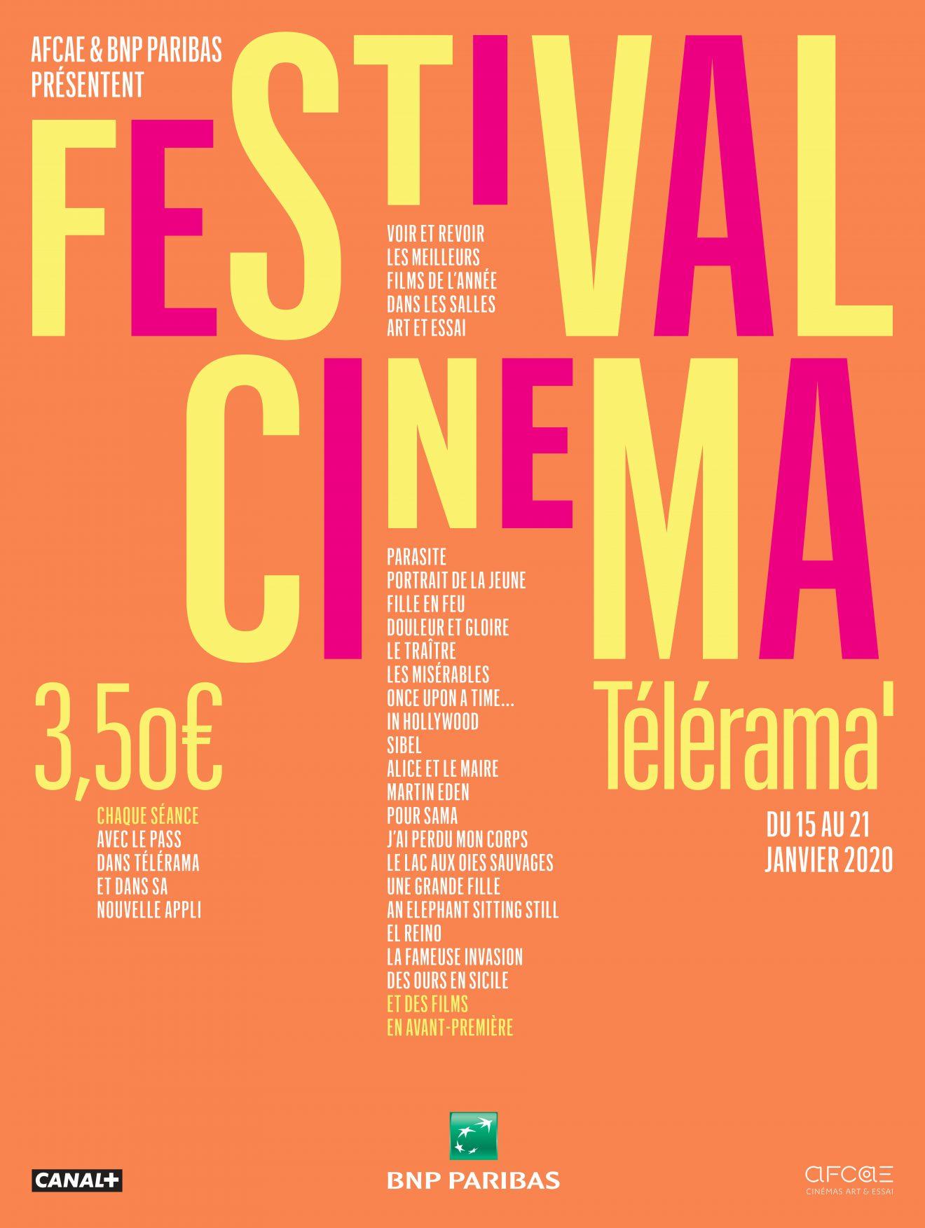 Affiche Telerama AFCAE 2020