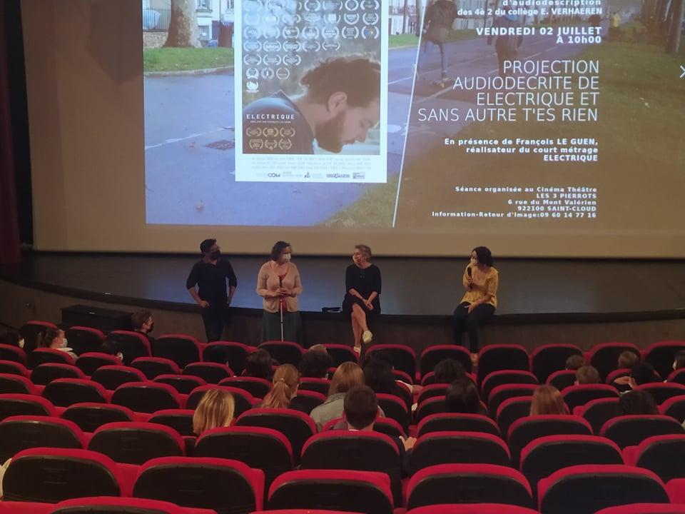 Des courts métrages audiodécrits au Cinéma Les 3 Pierrots