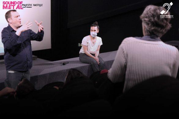 Photo : Les intervenants lors de l'avant-première au Majestic Bastille
